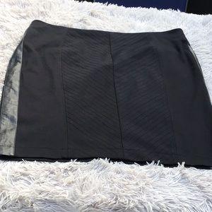 Lane Bryant  black skirt with leather trim